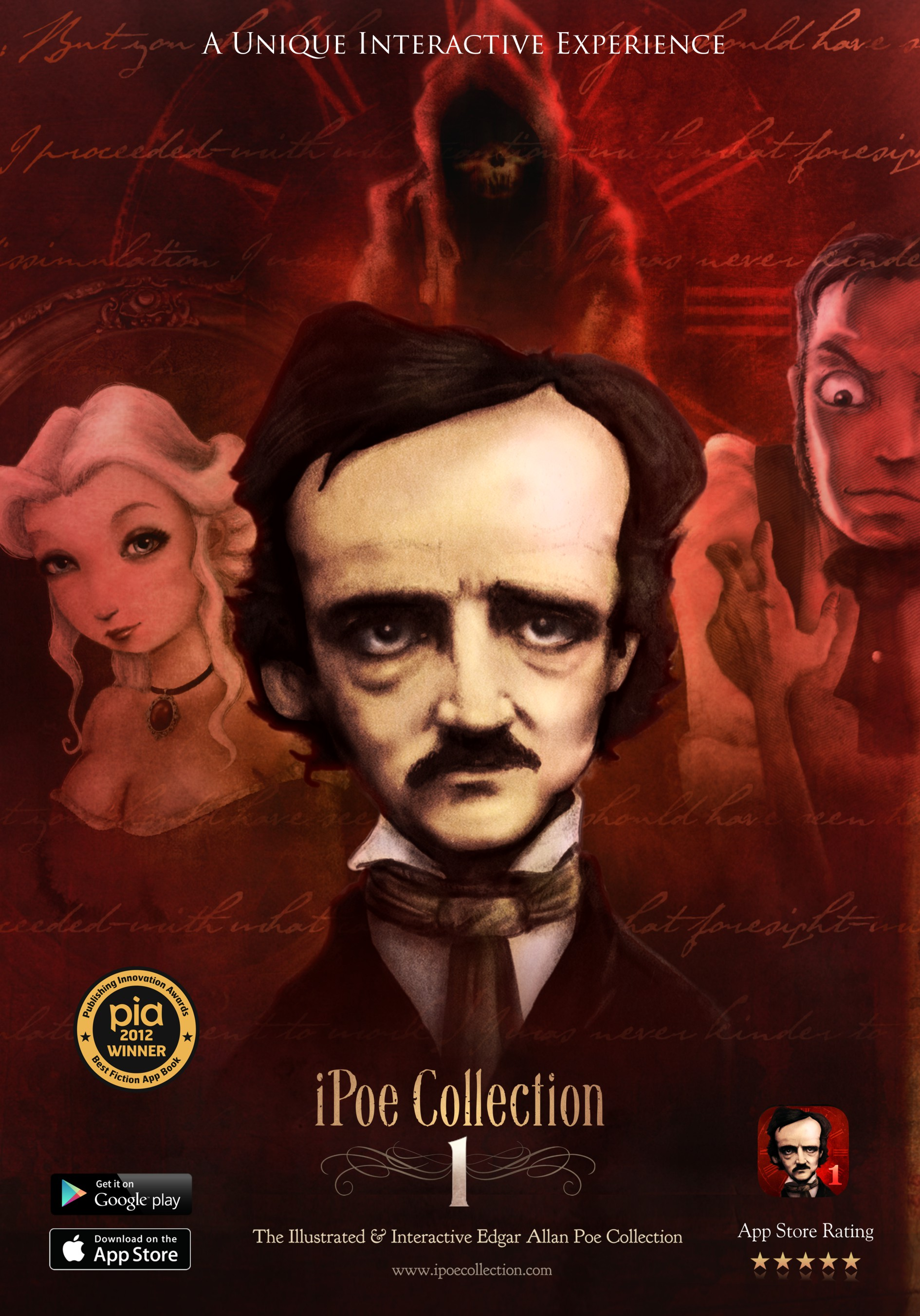 iPoe collection vol1: The illustrated and interactive Edgar Allan Poe collection