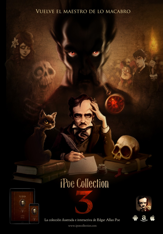 iPoe collection vol3: El tonel de Amontillado, Solo, La verdad sobre el caso del señor Valdemar y El Dorado.