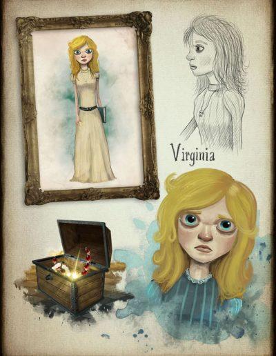 El fantasma de Canterville. Bocetos