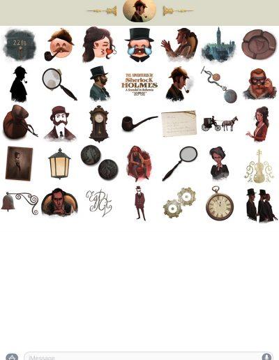 Sherlock Holmes stickers