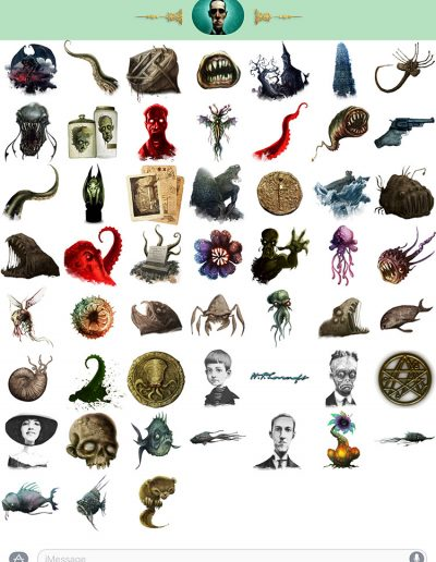 H.P.Lovecraft stickers