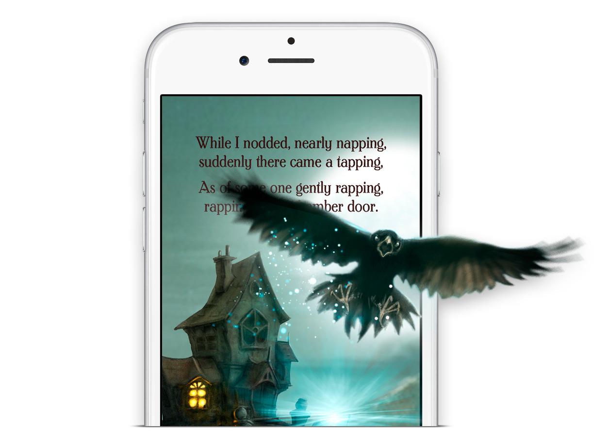 Lectura inmersiva iClassics. El Cuervo de Edgar Allan Poe
