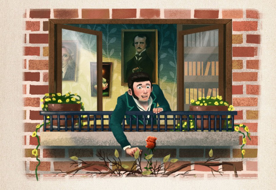 iWilde: The illustrated and interactive Oscar Wilde collection. The nightingale and the Rose.
