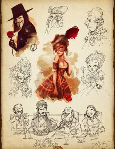 iPoe3 bocetos. Edgar Allan Poe