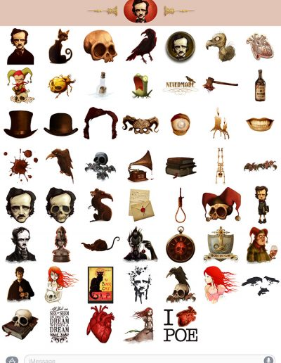 Edgar Allan Poe stickers